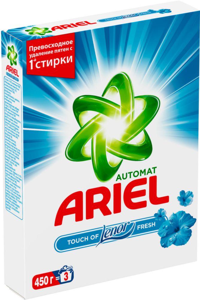 Порошок для стирки Ariel touch of lenor fresh автомат 450 г
