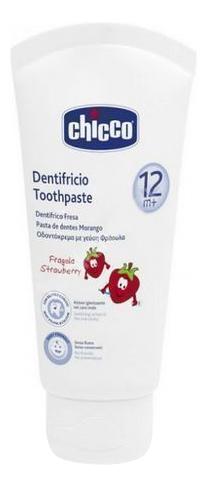 Детская зубная паста Chicco Зубная Паста 12+ Клубника 50 Мл фото