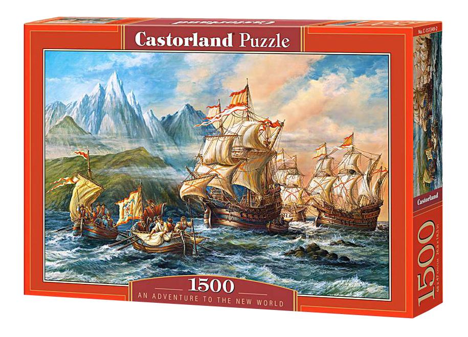 Пазл Castorland Приключения в новом свете 1500 деталей фото