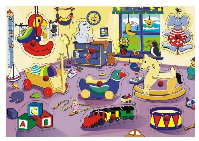 Рамка-вкладыш Wooden Toys ИгроваякомнатаКитай