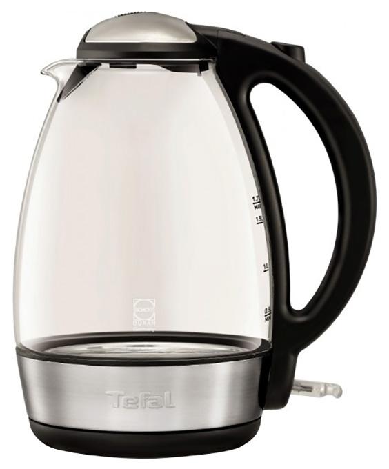 Чайник электрический Tefal Glass KI7208  Black/Silver