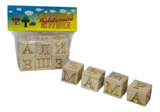 Детские кубики Анданте Азбука. Лазерная гравировка