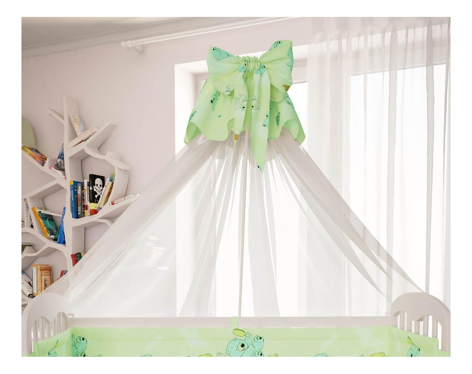 Балдахин для детской кроватки Polini Мишки зеленый
