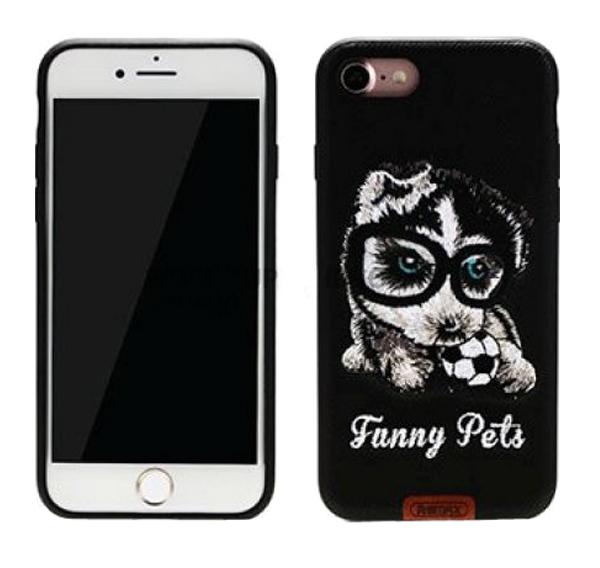 Чехол-накладка Remax Funny Pets для Apple iPhone 7 Black