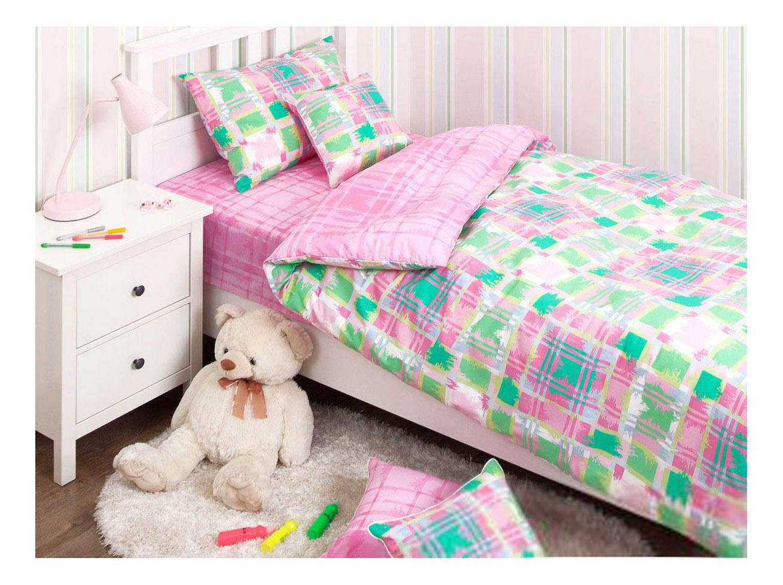 Купить Geometry 140 х 205 см розовый, Комплект постельного белья Хлопковый Край happy - детская коллекция полутораспальный,