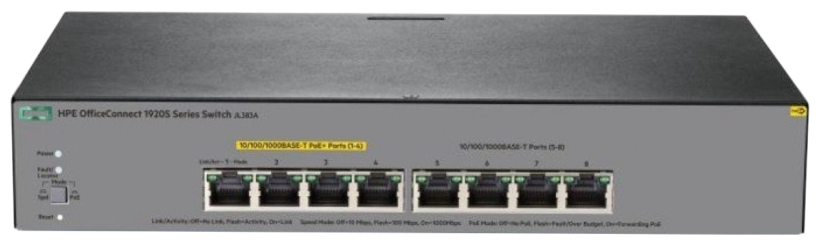 Коммутатор HPE 1920S 8G PPoE+ 65W Switch