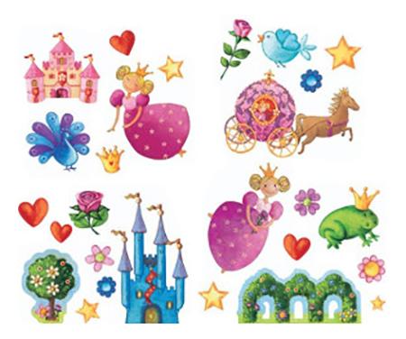 Наклейка декоративная Djeco Принцессы