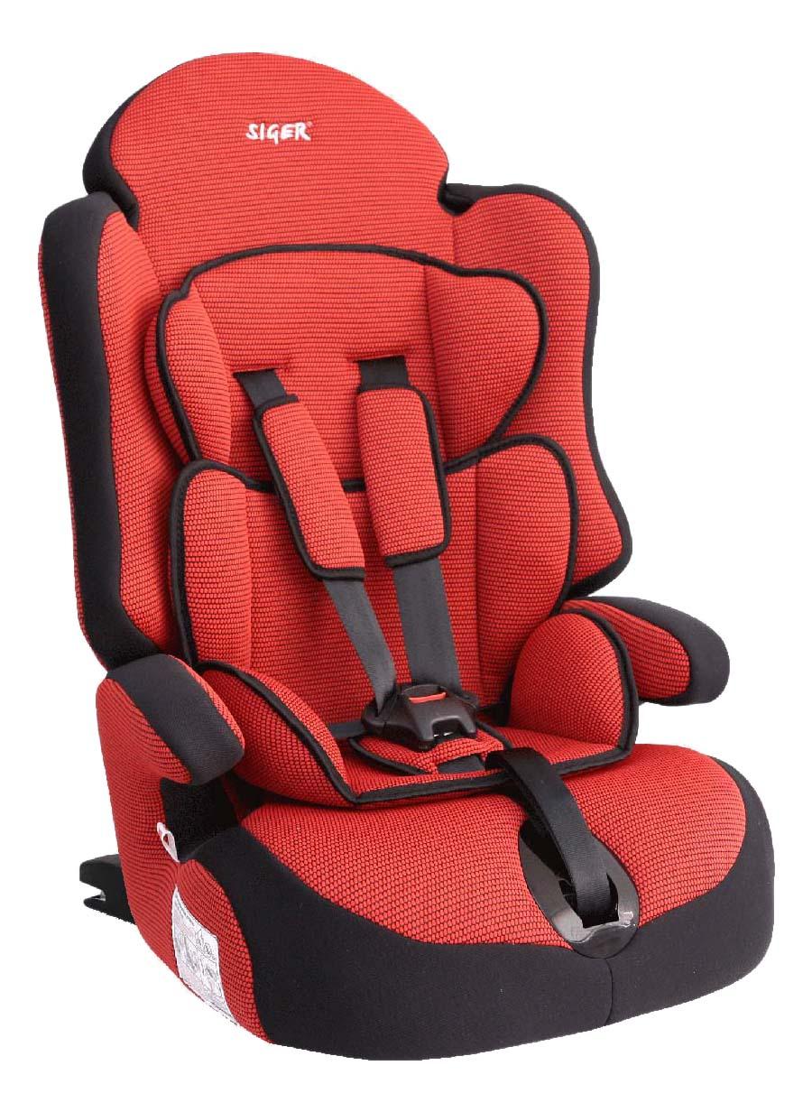 Автокресло Прайм изофикс красное от 9 до 36 кг SIGER KRES0146