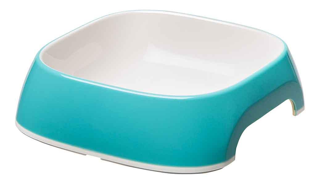 Одинарная миска для кошек и собак Ferplast, пластик, резина, голубой, 0.2 л фото