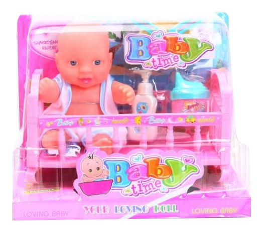 Набор Baby Time Пупс в кроватке Shenzhen Toys Д59521