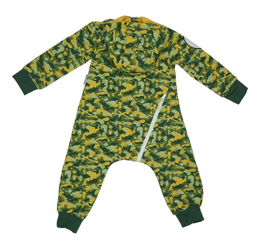 Купить Комбинезон Bambinizon из футера Милитари зеленый 56 размер, Слипы и комбинезоны для новорожденных
