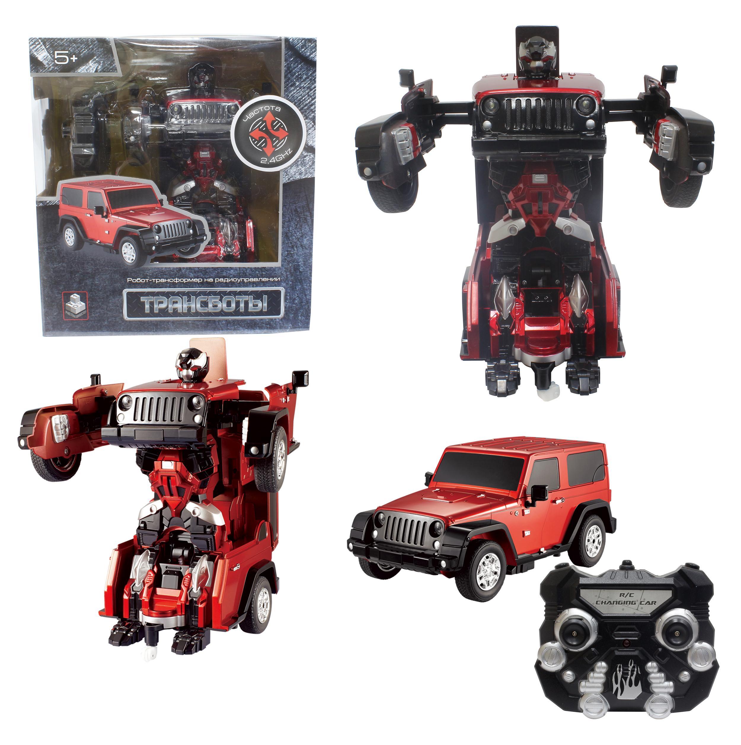 Купить Робот-трансформер Трансботы Джип красный 1Toy т10860, 1 TOY, Игровые наборы