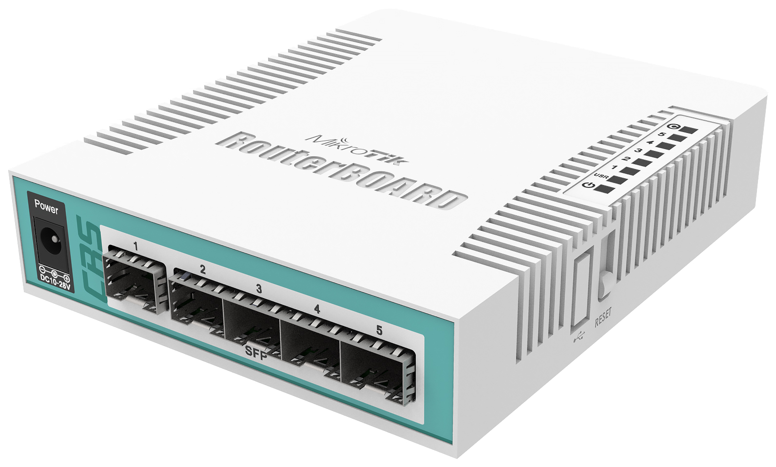 Коммутатор Mikrotik CRS106 1C 5S White
