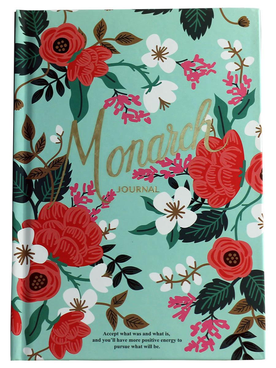 Планер с Цветочками Monarch формат А5 зеленый