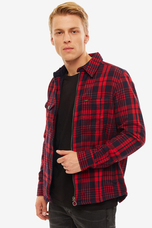 Рубашка мужская Lee красная