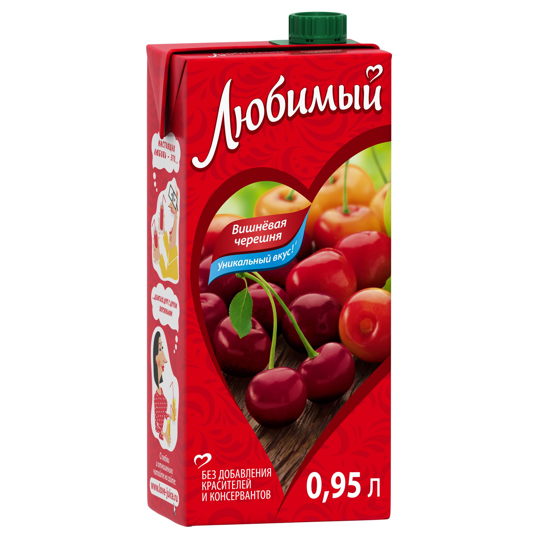 Напиток сокосодержащий Любимый вишневая черешня 0.95 л фото