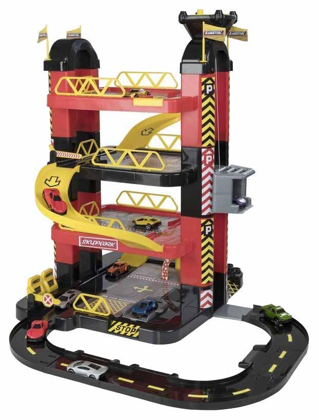 Купить Игровой набор Teamsterz 4-х уровневый гараж-башня с 10 машинками HTI,