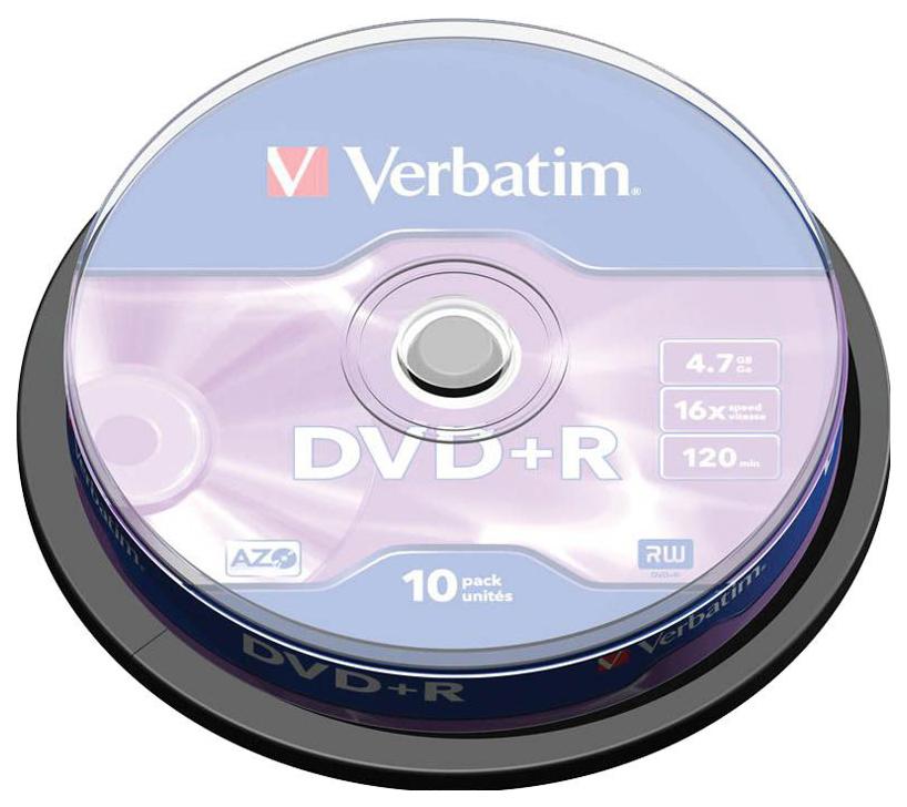 Диск DVD+R 4,7ГБ 16x Verbatim
