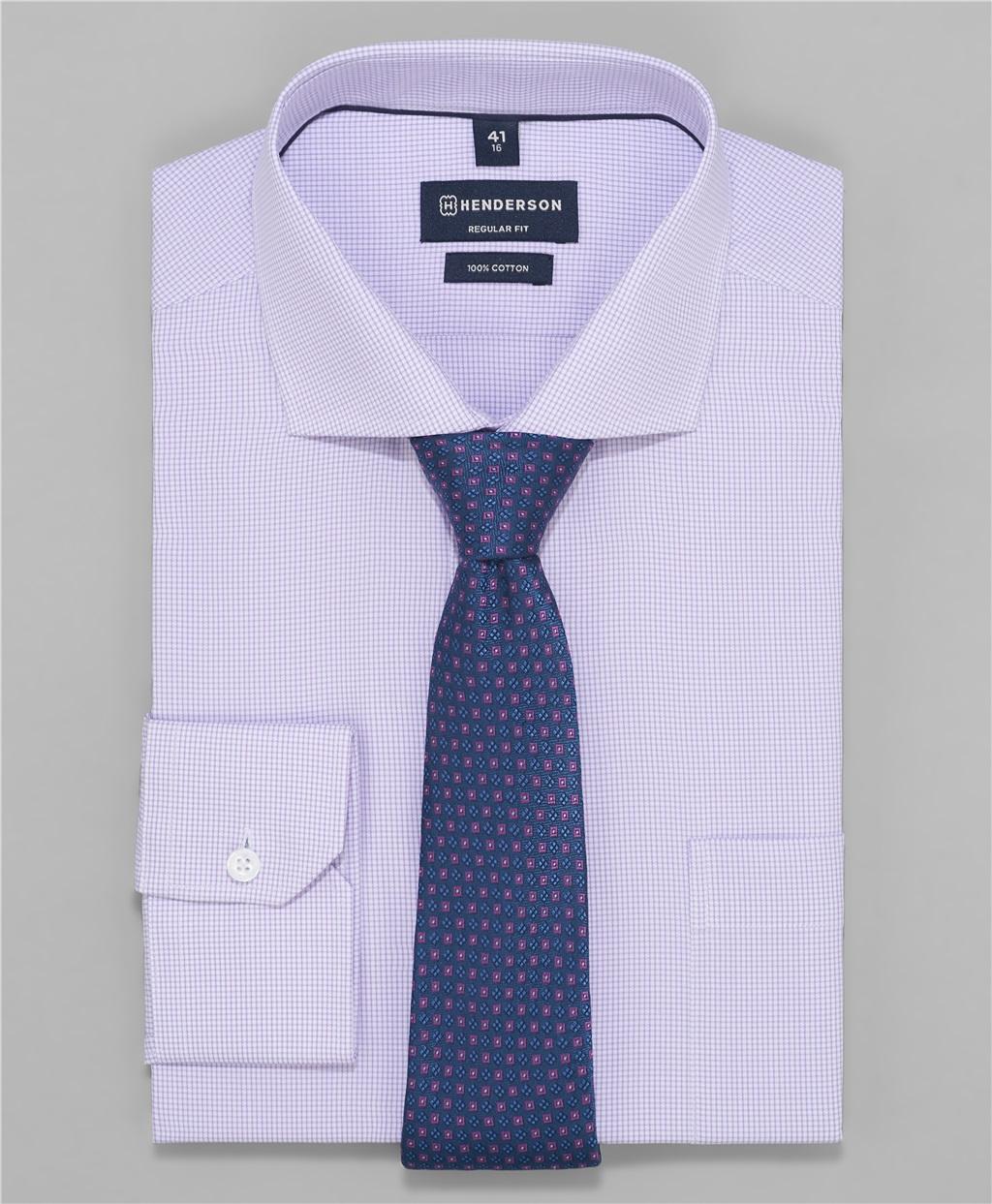Рубашка мужская HENDERSON SHL-1385 фиолетовая 45 - NN фото