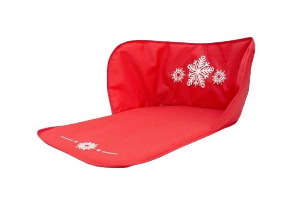 Сиденье для санок Лидер красное