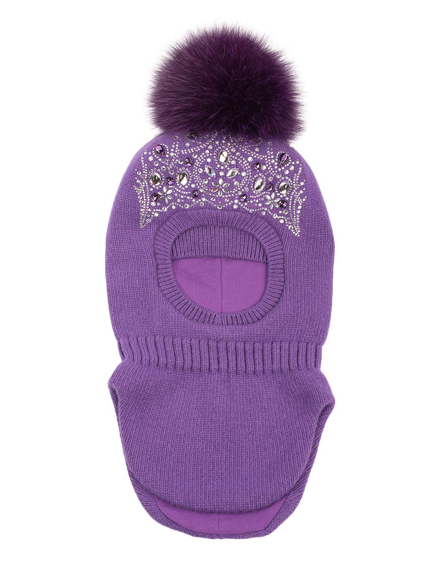 Шапка-шлем ALEKSA арт. Sh-di-10 р-р M (52-54) цв. фиолетовый