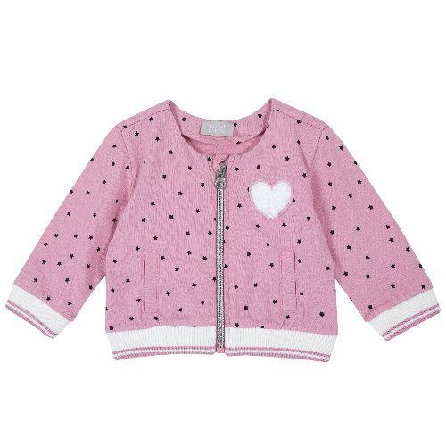 Купить 9096889, Кардиган Chicco Сердце для девочек р.74 цв.розовый, Кофточки, футболки для новорожденных