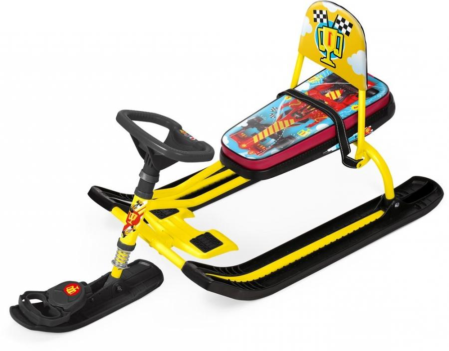 Снегокат Ника Тимка Спорт 4 Nika kids F1 жёлтый каркас