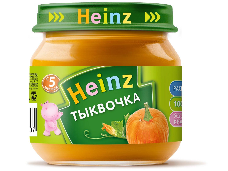 Пюре овощное Heinz тыковка, 5 мес., 12шт