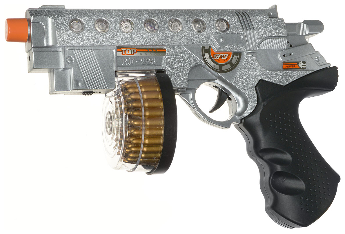 Купить Пистолет штурмовой эл/мех., со световыми и звуковыми эффектами, ABtoys, Игрушечные пистолеты