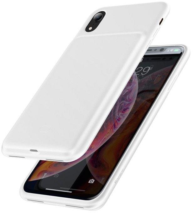 Чехол-аккумулятор Baseus Liquid Silicone Smart 3900 mAh для iPhone XR White