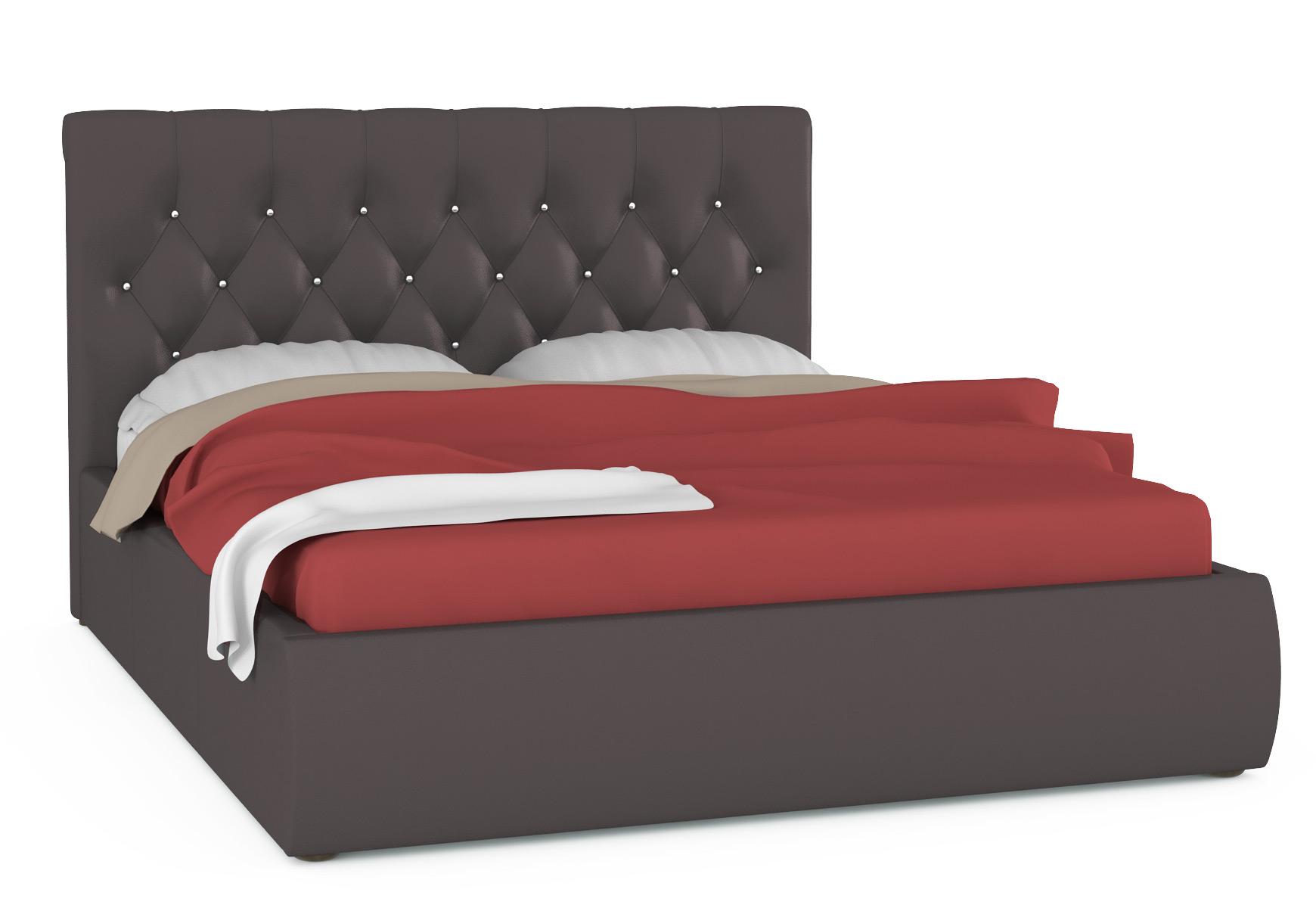 Кровать интерьерная Mobi Тиффани 176х230х109 см, коричневый фото