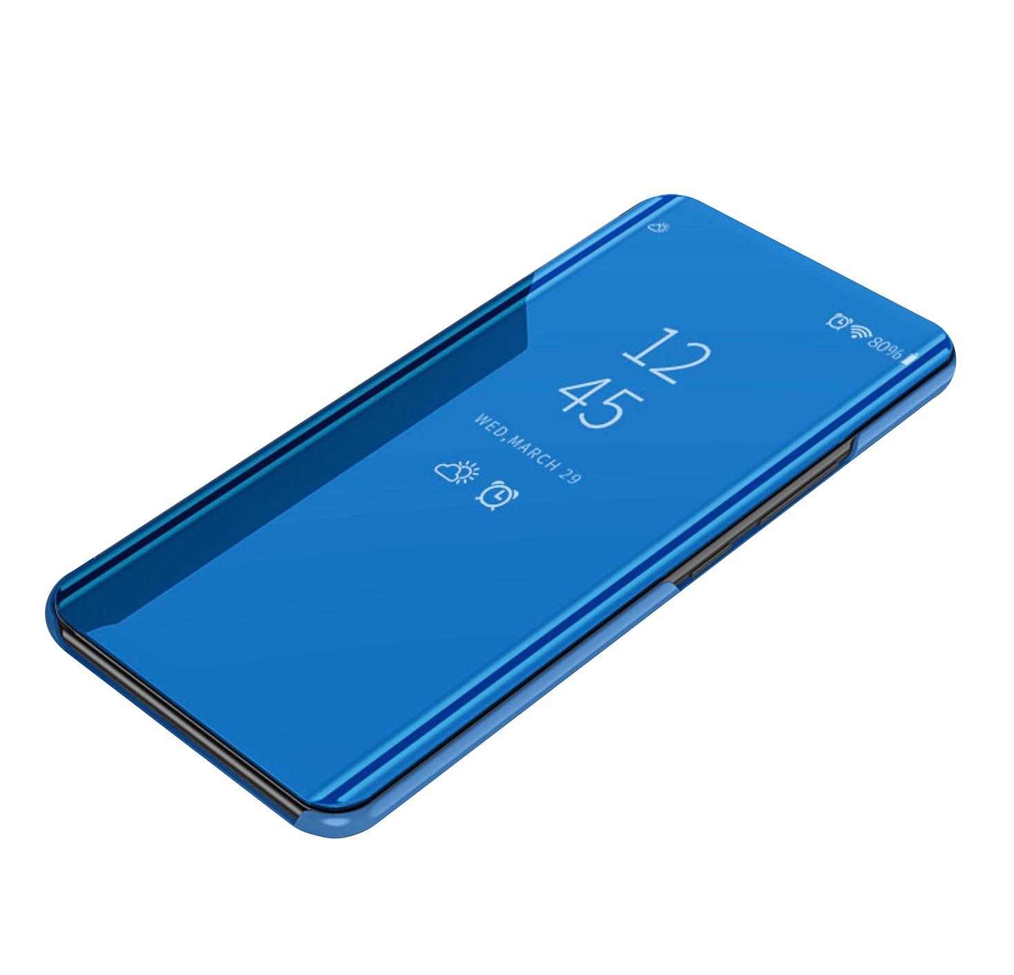 Чехол MyPads для Oppo F5 View Cover Blue