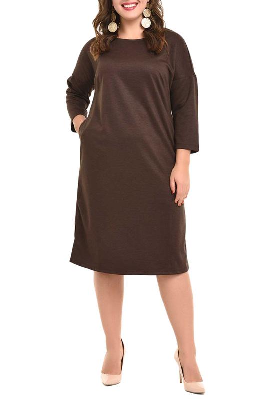 Платье женское SVESTA R623BRU коричневое 52 RU фото