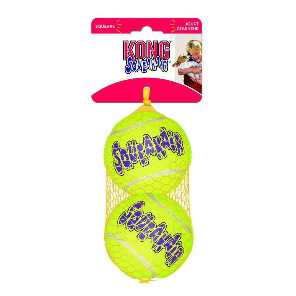 Апорт для собак KONG Теннисный мяч, зеленый, длина 8 см, 2 шт фото
