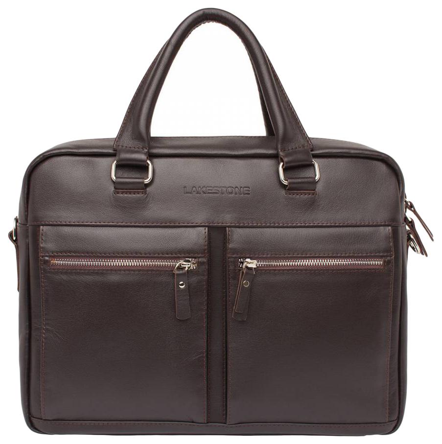 Портфель мужской кожаный Lakestone Colston коричневый фото
