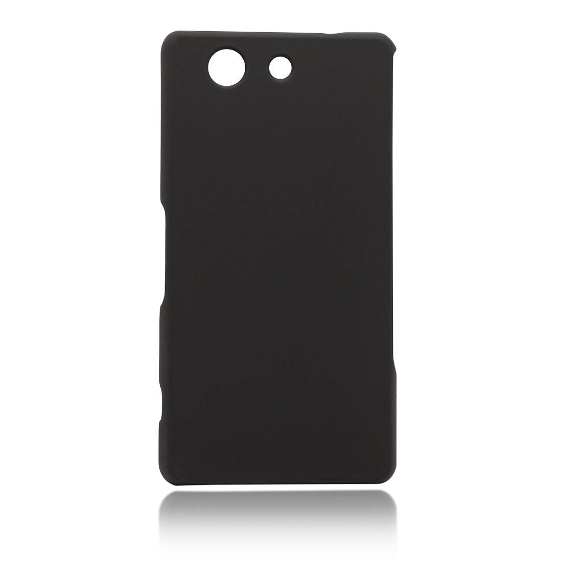 Пластиковая накладка Brosco Soft-touch для Sony Xperia Z3 Compact, черная