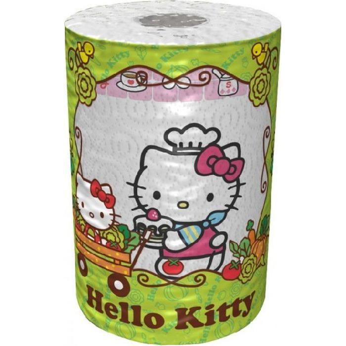 Полотенца бумажные World Cart hello kitty 3-х слойные с рисунком 1 штука*150 листов