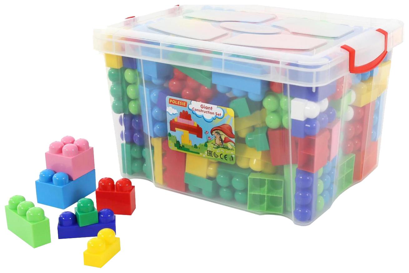 Купить Игрушки, Конструктор пластиковый Полесье Великан 144 элемента в контейнере,