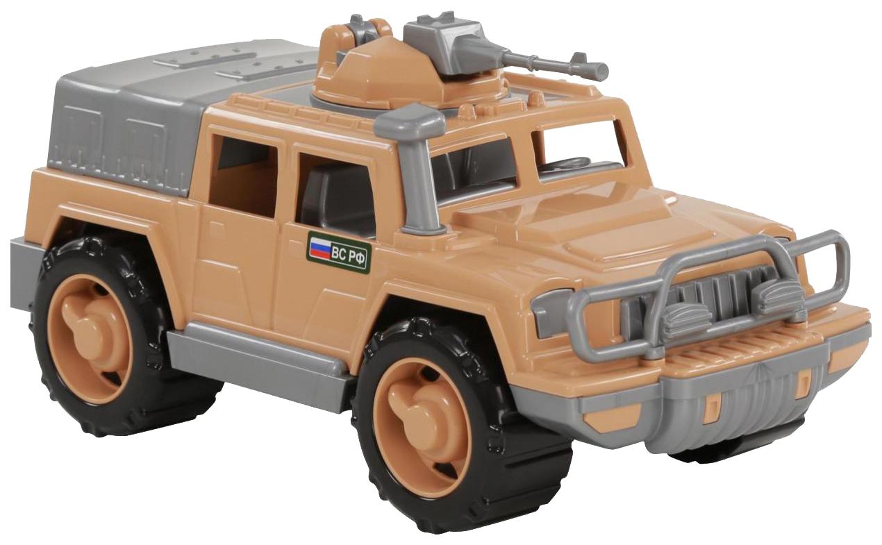 Купить Игрушки, Автомобиль-джип Полесье военный Защитник-Сафари №1 с 1-м пулемётом, Игрушечные машинки