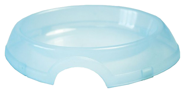 Одинарная миска для кошек ZooExpress, пластик, прозрачный,