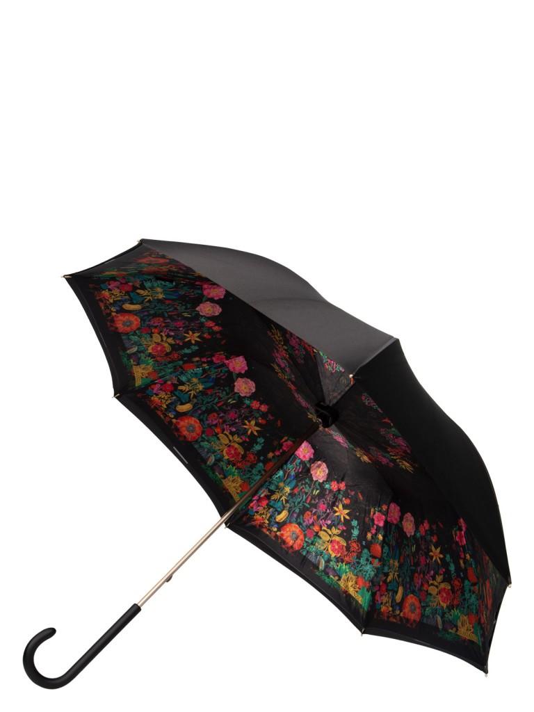 Зонт-трость женский механический Eleganzza 01-00029249 разноцветный/черный