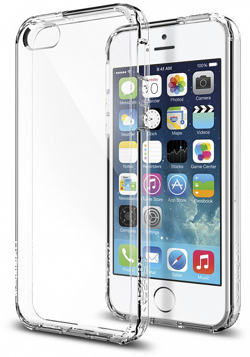 Чехол Spigen Ultra Hybrid (041CS20171) для iPhone 5/5S/SE (Crystal Clear)