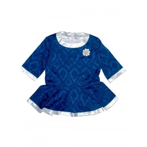Блузка Bon&Bon с баской синяя 551, р.116 для девочек фото