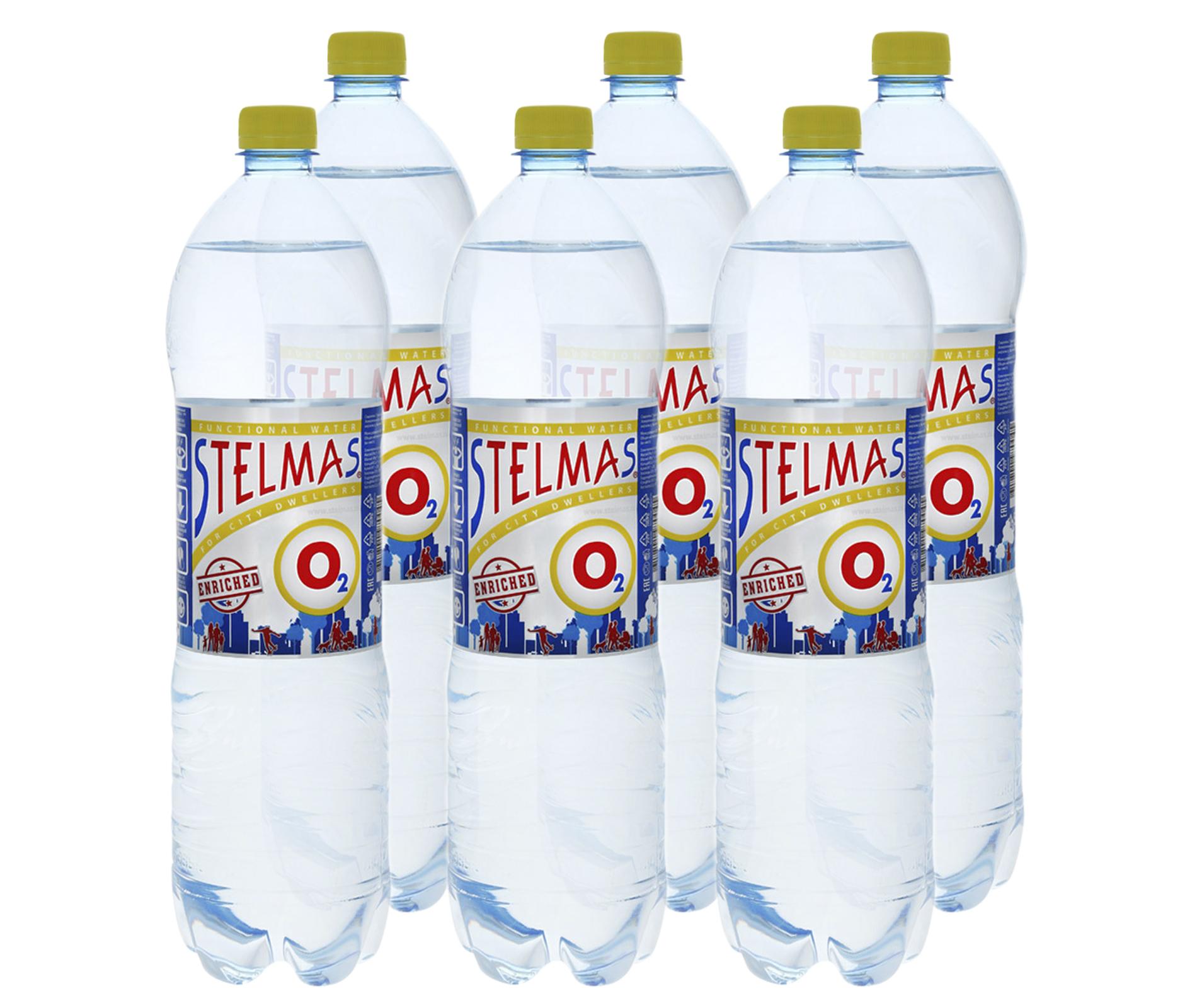 Вода Stelmas o2 минеральная негазированная 1.5 л 6 штук в упаковке фото