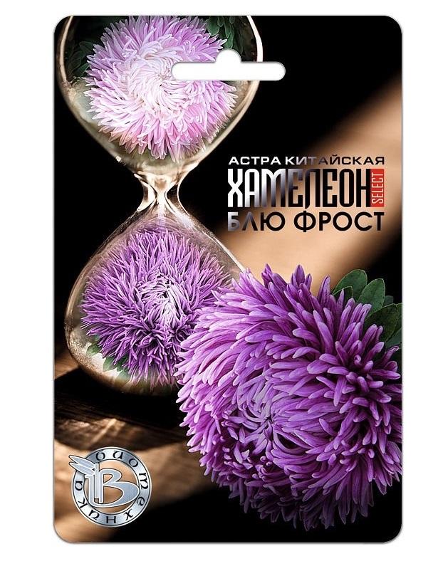 Семена Астра китайская Хамелеон SELECT Блю Фрост, 40 шт, Биотехника фото