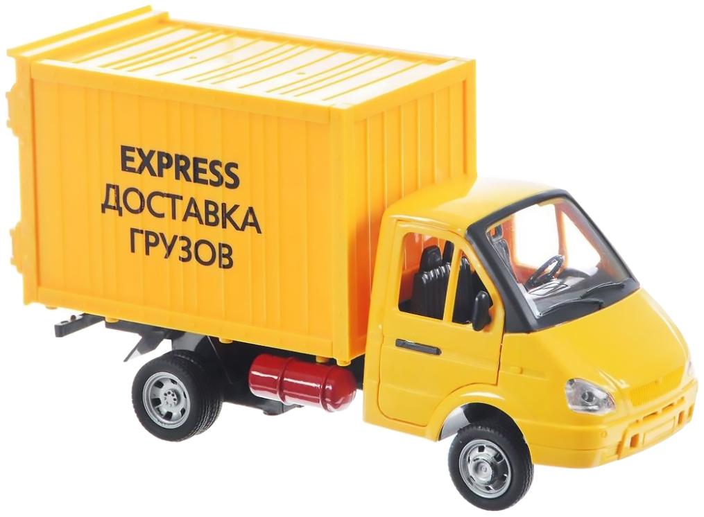 Купить Инерционная машинка PLAYSMART Грузовой фургон – Доставка грузов (свет, звук), 1:27, Игрушечные машинки