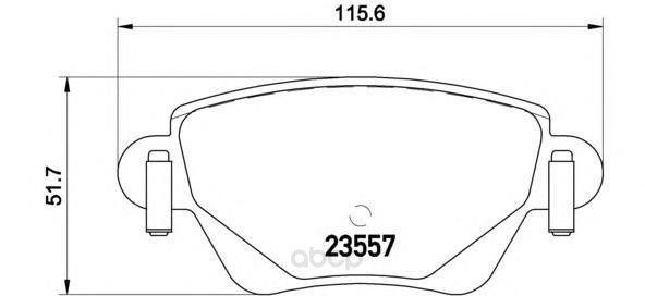 Тормозные колодки дисковые brembo P68028