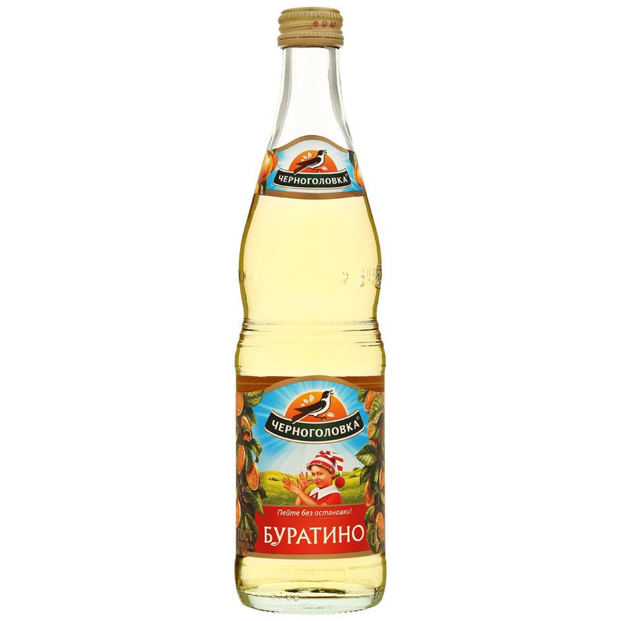 Лимонад Напитки из Черноголовки Буратино стекло 0.5 л фото