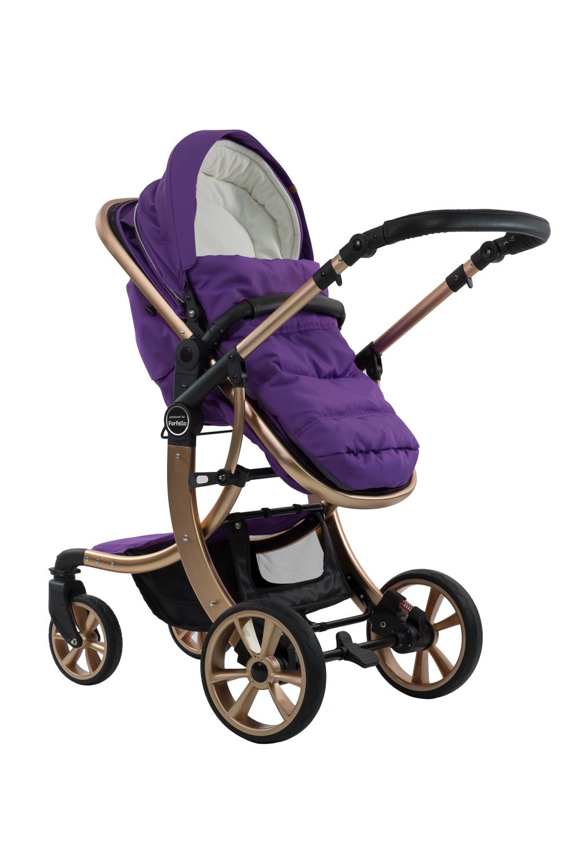 Купить Коляска-трансформер Farfello Aimile Gold фиолетовый голубой арт.FTG-1, Детские коляски трансформеры