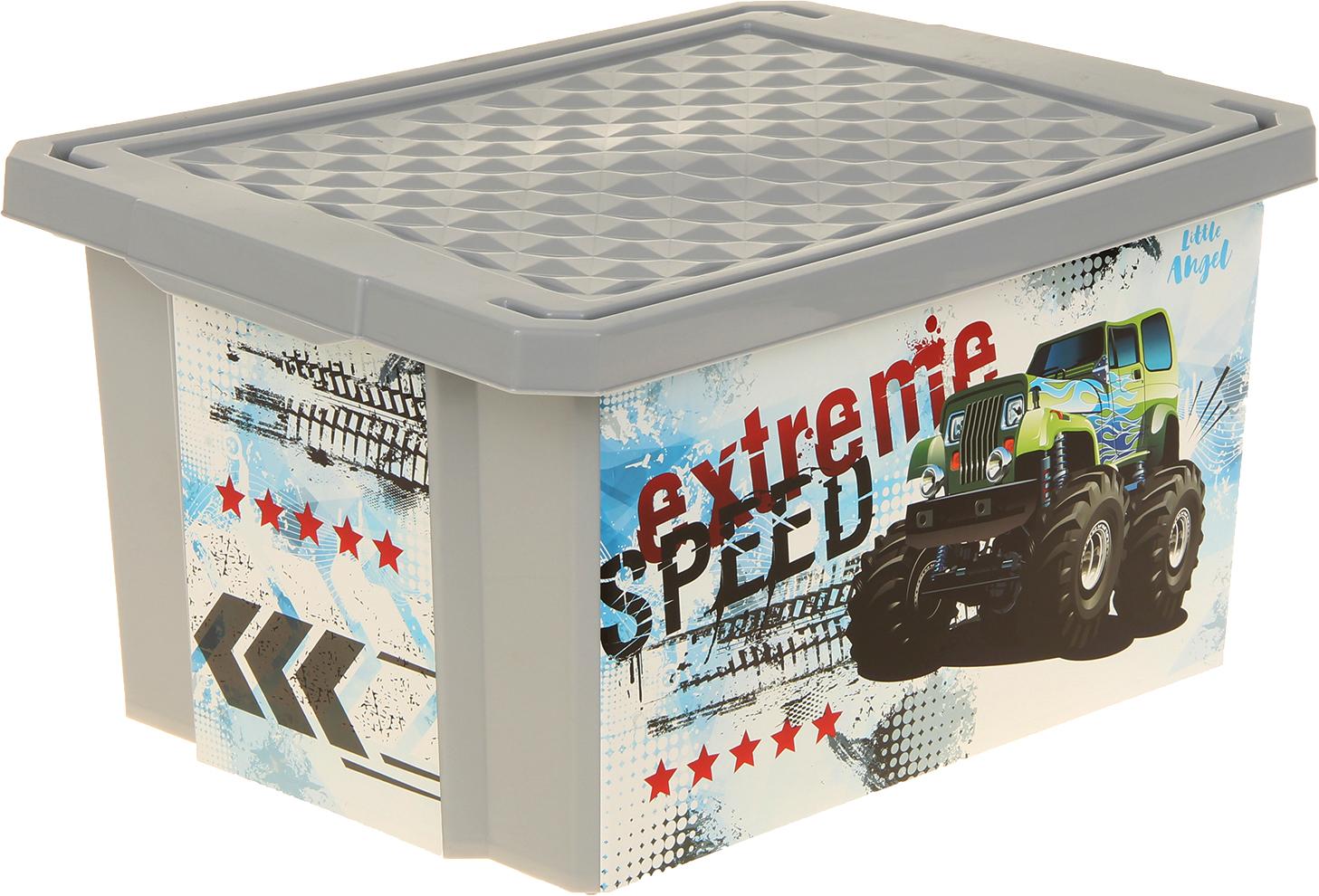 Ящик для игрушек Little Angel Супер Трак LA1029